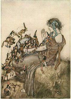Gustaf Adolf Tenggren illustration for Grimm's Fairy Tales, 1922