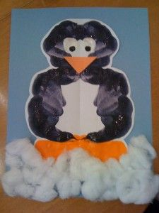 ink blot penguin craft