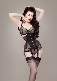 Ava Corsetry has crafted a summer collection of light weight corsets crafted of mesh, Duchess satin, and taffeta.