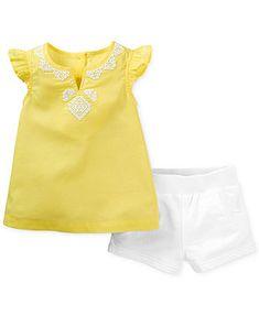 Carter's Baby Girls' 2-Piece Top & Shorts Set