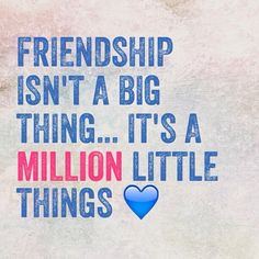 Twitter / actionhappiness: Friendship isn't a big thing... ...