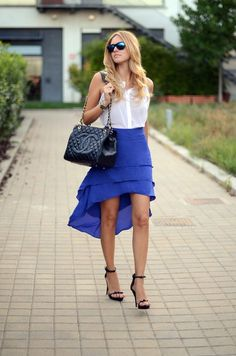 Love the layered skirt