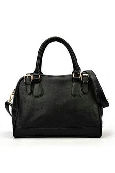 Office Lady Boston Shoulder Bag with Double Straps Fastening OASAP.com
