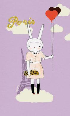 Mi gusto por Fifi Lapin es equivalente al de una fanática de Hello Kitty...pero una fanática pobre jaja