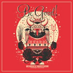 Woot greetings from krampus by miss monster krampus not big non denominational seasonal greetings cards m4hsunfo