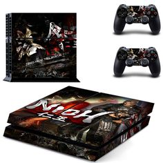 Vinyl Skin Sticker Decal Design for Xbox One X Console + Two Controller Skins