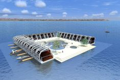 floating hotel holiday house Source by Floating Architecture, Futuristic Architecture, Residential Architecture, Floating Lounge, Floating Hotel, Unusual Hotels, Eco Buildings, Water House, Underground Homes