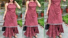Dress Neck Designs, Stylish Dress Designs, Designs For Dresses, Stylish Dresses, Stylish Clothes, Blouse Designs, Fashion Dresses, Silk Kurti Designs, Kurti Designs Party Wear