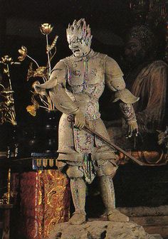 伐折羅大将像-basarataishouzou- (Vajra) One of 12 persons' guardian deity. Japanese Buddhism, Japanese Art, Nara, Buddhist Art, Historical Photos, Mythology, Sculptures, Statue, Artwork