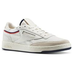 0cfa4e8ae037c Reebok Revenge THOF Men s Court Shoes in Chalk   Classic White   Primal Red    Navy