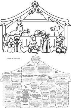 Christmas Nativity Calendar « Crafting The Word Of God Preschool Christmas, Christmas Nativity, Christmas Crafts For Kids, Christmas Activities, Christmas Projects, Christmas Traditions, Christmas Holidays, Christmas Printables, Christmas Bells