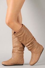 Bank-31 Slouchy Round Toe Knee High Boot