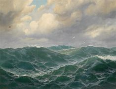 View Wogendes Meer by Max Jensen on artnet. Browse upcoming and past auction lots by Max Jensen. Seascape Paintings, Art Paintings, Stürmische See, Stormy Sea, Sea Waves, Sea And Ocean, Ocean Art, Ship Art, Landscape Art