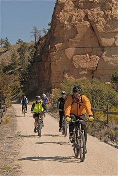 The Mickelson Trail in the Black Hills was part of the rails-to-trails program. The 110 mile trail leads bikers through the heart of the Hills. Get on and off at your own pace.