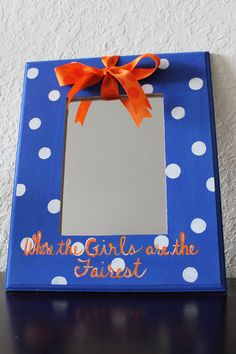 """Florida Gators """"Where the Girls are the Fairest"""" Dots Hanging Mirror"""