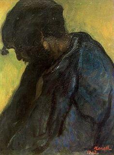 """""""Gitano, 1902"""". Óleo sobre lienzo. 65 x 50 cms. Colección particular, Barcelona. España."""