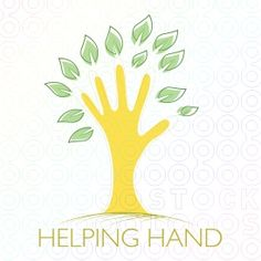 Logo representing a Human Hand rising from the ground asking for help. The hand, has green leaves around it. Green leaves represent nature.  This logo could be used for ecological purposes, nonprofit organizations and any type of business that you think it is appropriate.  This logo can be modified to fit your needs.