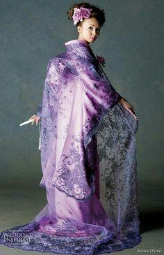 kimono on a 'Geisha' Purple Love, All Things Purple, Shades Of Purple, Periwinkle, Purple Dress, Purple Candy, Purple Colors, Pink, Japan Kultur