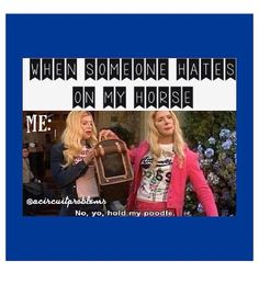 Instagram horse quote from White Chicks!