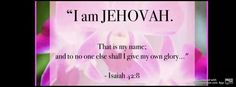 Isaiah 42:8 - Jehovah, the God of Abraham, Isaac and Jacob, David, and Jesus Christ (the greater David) does not share HIS (Almighty) glory with ANYONE. Jesus is not Jehovah. He is his Son, and he was CREATED. Colossians 1:13-20. Also no man has EVER seen Jehovah (God). John 1:18  Humans cannot see God and live.