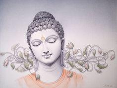 buddha by manish verma Gautama Buddha, Buddha Buddhism, Buddhist Art, Buddha Artwork, Buddha Painting, Ganesha, Buddha Peace, Buddha Tattoos, Fantasy Paintings