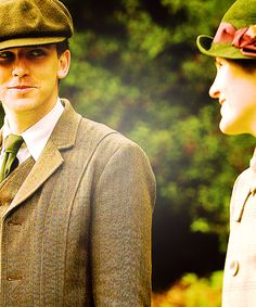 Cousin Matthew and his love Lady Mary
