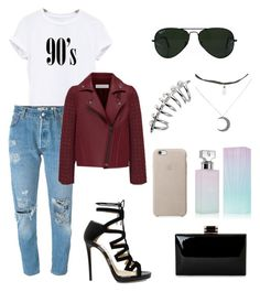 90's Baby by anjelicadeweese on Polyvore featuring polyvore, fashion, style, Levi's, Jimmy Choo, Ray-Ban, Calvin Klein and clothing