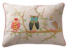 RAM PRAKASH CREATIONS Owl Pink Embroidered Cushion with inner included. This attractive cushion has blue backing and trim with owl in tree embroidered on natural background, also available in the owl range is a matching photo frame, jewellery box and note book. Hand made by skilled embroiderers near Delhi. 50x35cm £20.97 http://www.amazon.co.uk/dp/B00ITVZPDY/ref=cm_sw_r_pi_dp_waxptb18GAV64