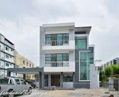 บ้าน3ชั้น สำหรับครอบครัวใหญ่ ผลงานโดย fewdavid3d-design Multi Story Building