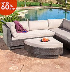 Make this summer your best one yet with furniture and accents that encourage outdoor entertaining. Rattan seating groups, hot tubs, and firepits are perfect for cozy gatherings, while wrought-iron dining sets and solid-wood coolers let you enjoy fresh-air meals in style. Gazebos help you create a private lounge area that's insect- and and nosy-neighbor-free.