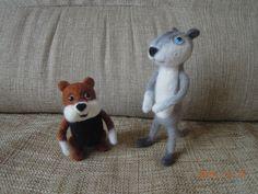 Хома и Суслик, игрушки ручной работы, фелтинг