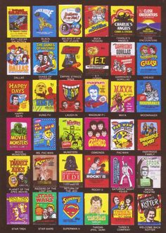 Trading cards, non-sports cards, wax packs or Flip cards, whatever you called them they were a great investment for a nickle. the included bubblegum, not so much. Retro Toys, Vintage Toys, Blowing Bubbles, Flip Cards, Vintage Candy, Old Toys, Bubble Gum, Vintage Advertisements, Photo Cards