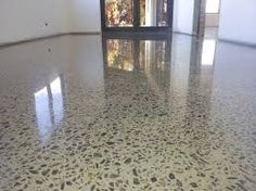 Image result for polished concrete finish full exposure white aggregate