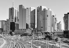 'City Rail'. Railyards, Melbourne. © G.C.Campbell.