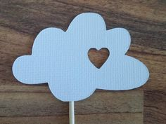 White Cloud Cupcake Toppers 12 Cloud toppers Cloud by NatandJules