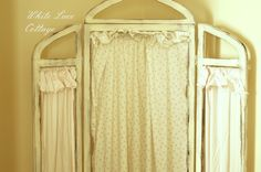 ruffled screen--white lace cottage