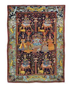 An unusual Bakhtiar rug West Persia, 210cm x 157cm