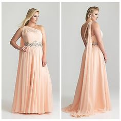 Plus Size One Shoulder Bridesmaid Prom Gown Formal Evening Wedding Party Dress | eBay