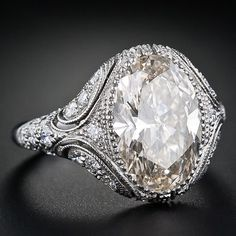 Platinum, 4.4 Carat Oval Diamond