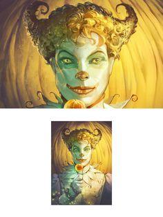 Evil Clowns, Butterfly Design, A Pumpkin, Red Hair, Portrait, Illustration, Artwork, Work Of Art, Bowtie Pattern