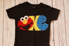 elmo birthday shirt // one // 1 // girl boy t shirt, by CodyandKait on Etsy https://www.etsy.com/listing/189176647/elmo-birthday-shirt-one-1-girl-boy-t