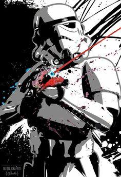 Stormtrooper from Star Wars Pop Art Geekery por MediaGraffitiStudio