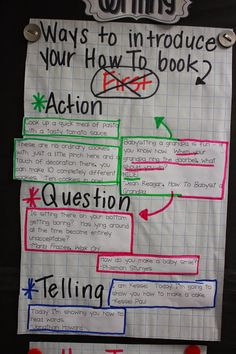 The Go To Teacher: How-To Writing Introduction Inquiry
