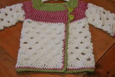 Crochet Baby Sweater 6 months to 12 months SALE by BlissfulFiber, $18.50