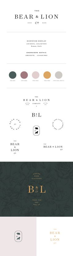 The Bear & Lion Co. by Saturday Studio logo design branding