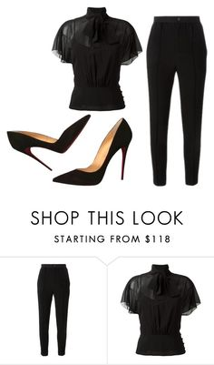 """""""Sem título #7754"""" by ana-sheeran-styles ❤ liked on Polyvore featuring Étoile Isabel Marant, RED Valentino and Christian Louboutin"""