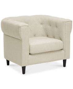 bradbury velvet tufted one-arm settee, quick ship | shops, settees