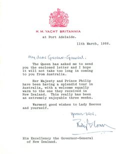 Letter From Balmoral Castle  Professional  Formal  Heritage