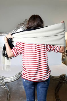 Fresh Ways to Tie a Scarf- Alyssa Wasko Fall Fashion Advice - Harper's BAZAAR