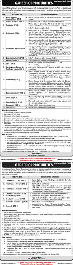 jobs in pakistan atomic energy commission